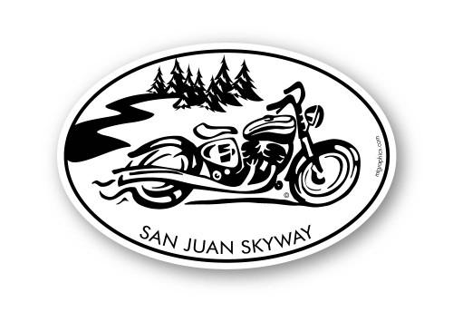 """San Juan Skyway Cruiser Sticker 4""""x6"""""""
