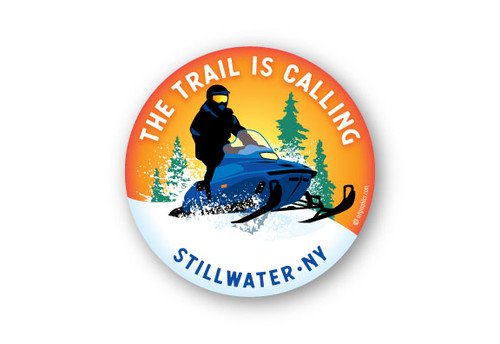 Wholesale Snowmobile Round Sticker