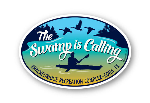 Wholesale The Swamp is Calling Oval Sticker