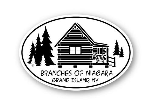 Wholesale Log Cabin Sticker