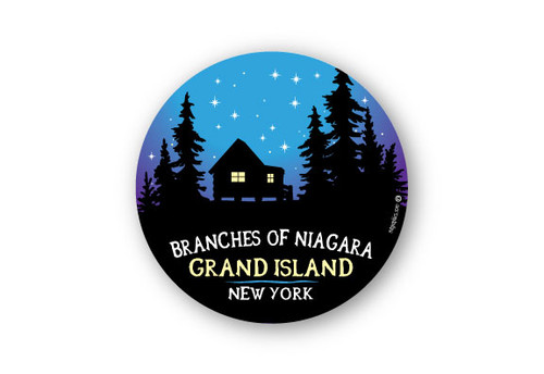 Wholesale Night Sky Cabin Silhouette Sticker