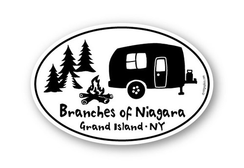 Wholesale Campsite Camper Sticker