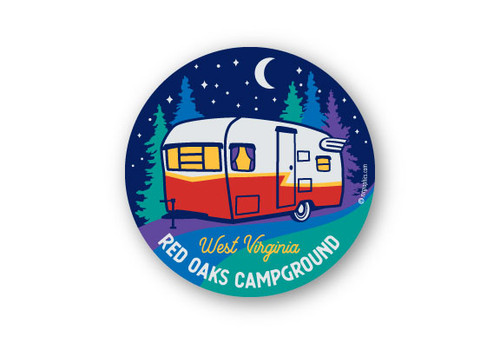 Wholesale Starry Camper Sticker