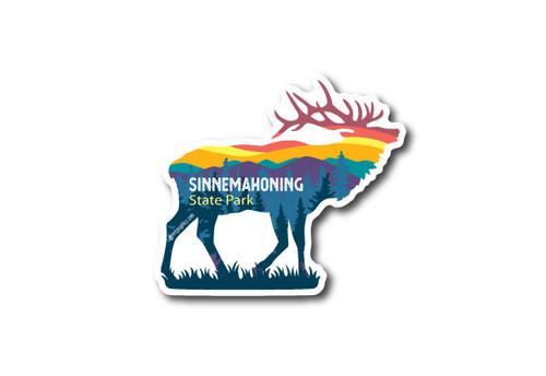 Wholesale Elk & Mountains Die Cut Sticker