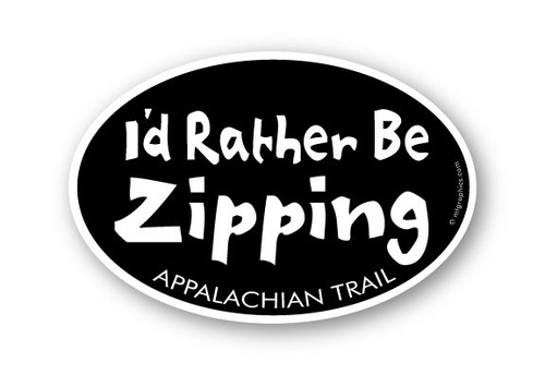 Wholesale Rather be Zipping Sticker