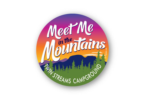 "Wholesale Meet Me in the Mountains 4"" Sticker"