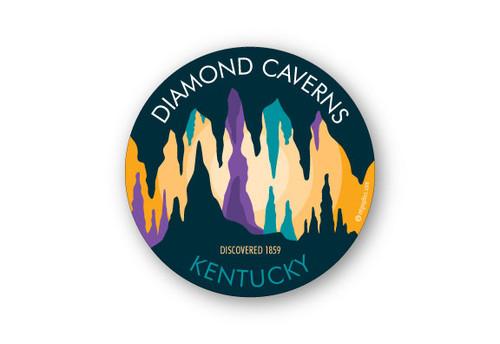 Wholesale Cavern Multi-Color round Sticker