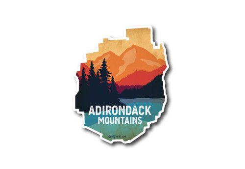 Wholesale ADK Park Lake & Mountians Die Cut Sticker