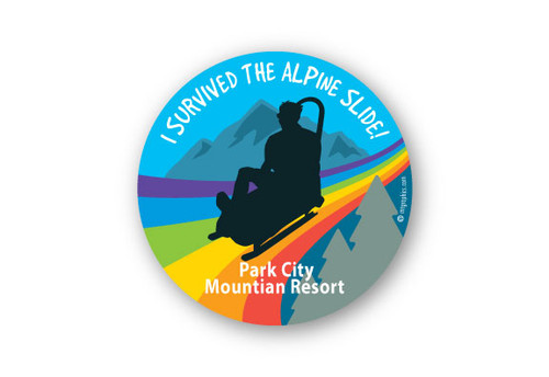 Wholesale Alpine Slide round Sticker