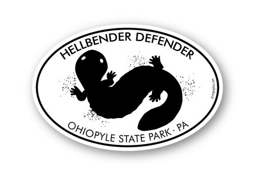 Wholesale Hellbender Defender 4x6 oval Sticker