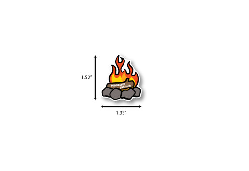 Campfire Mini Die Cut Sticker