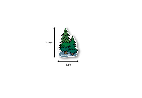 Pine Trees Die Cut Sticker