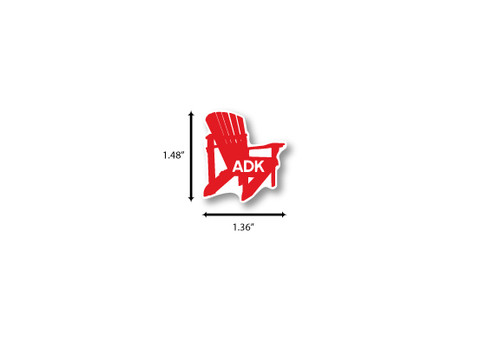 ADK Chair Mini Die Cut Sticker