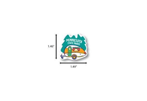 Teardrop Camper Mini Die Cut Sticker