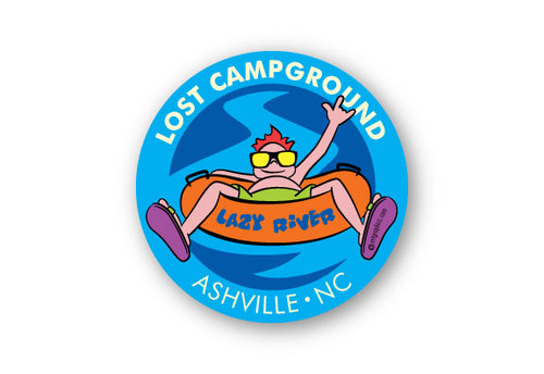 Wholesale Lazy River round Sticker