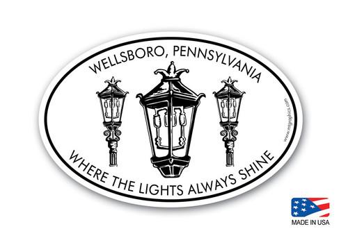 Wellsboro Gaslights Sticker