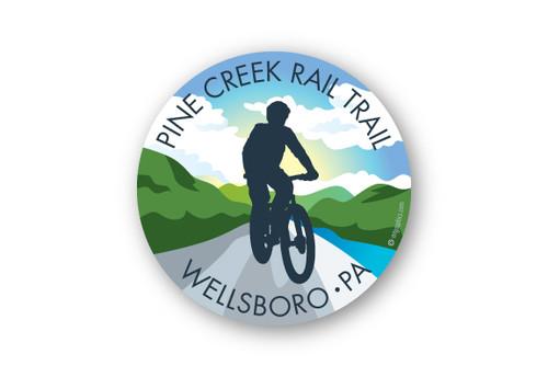 "Wholesale Bike Trail Silhouette 4"" Sticker"