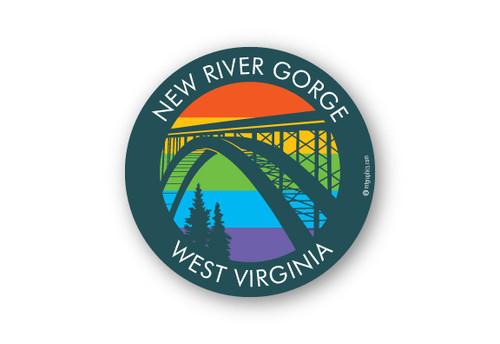 "Wholesale Rainbow Bridge 4"" Sticker"