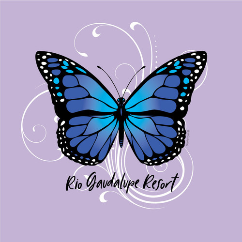Wholesale Blue Butterfly Tee