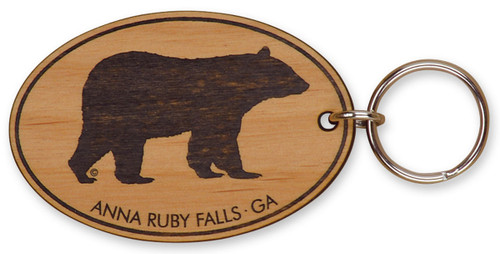 Black Bear Laser-engraved Keychain