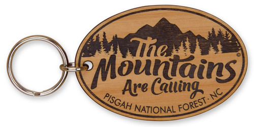 Mountains are Calling Laser-engraved Keychain
