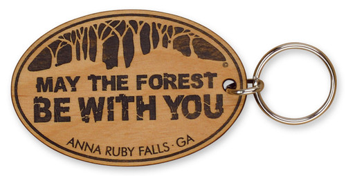 May the Forest Be With You Laser-engraved Keychain