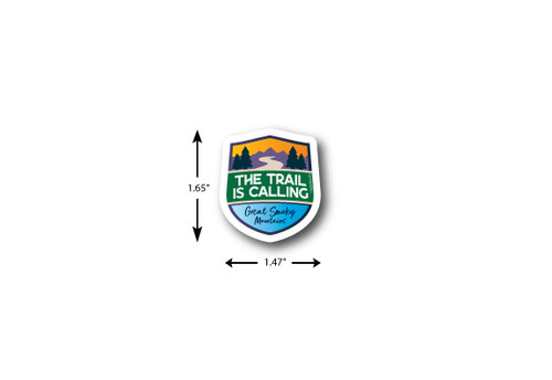 Trail Is Calling Mini Die Cut Sticker