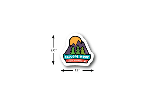 Explore More Mini Die Cut Sticker