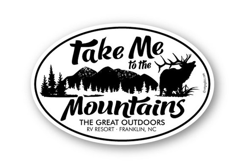 Wholesale To the Mountains Elk Sticker