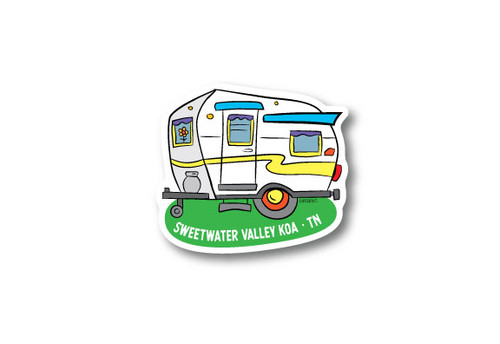 Camper Die Cut Sticker