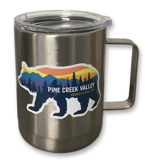 10oz Stainless Steel Coffee Mug with plastic lid