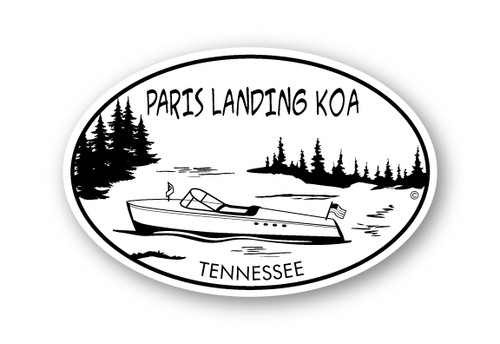 Wholesale Pine Trees & Boat Sticker
