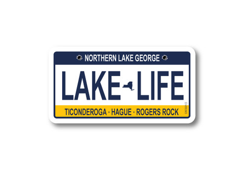 Lake Life License Plate Die Cut Sticker