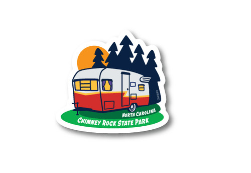 Wholesale Classic Camper Die Cut Sticker