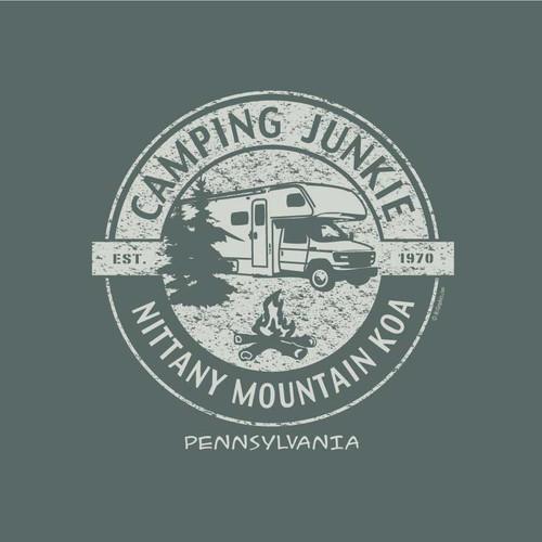 Wholesale Camping Junkie Camper Tee
