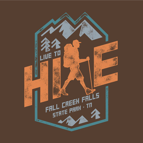 Wholesale Live to Hike Tee