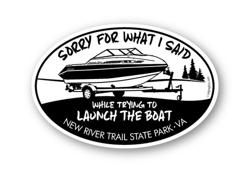 Wholesale Sorry For What I Said Boat Sticker