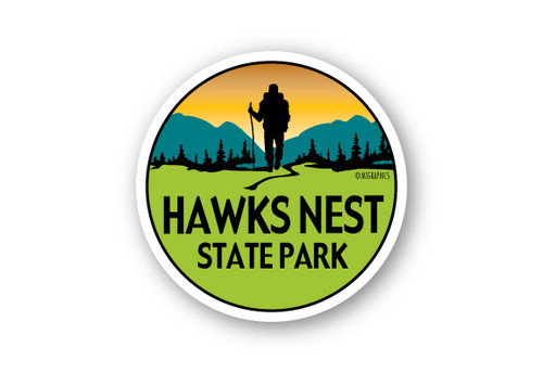 Wholesale Mountain Hiker Sticker