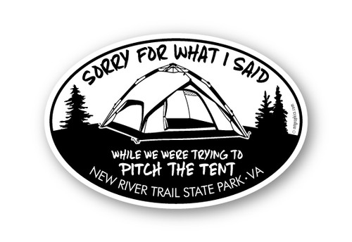 Wholesale Sorry Tent Sticker