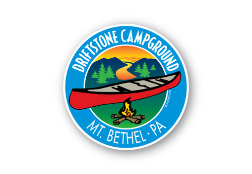 Wholesale Canoe Campfire Sticker