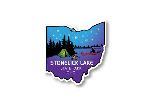 Wholesale Ohio Camping Die Cut Sticker