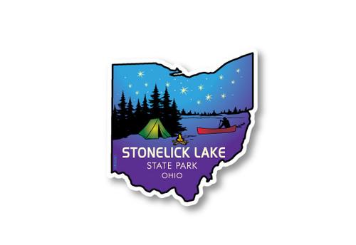 Wholesale Ohio Camping Die Cut Sticker