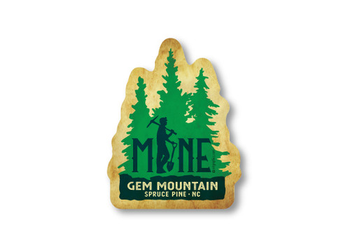 Wholesale Mine Pine Trees Die Cut Sticker