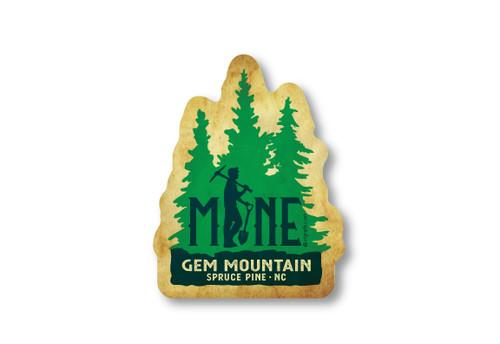 Wholesale Mine Pine Trees Die Cut Sticker