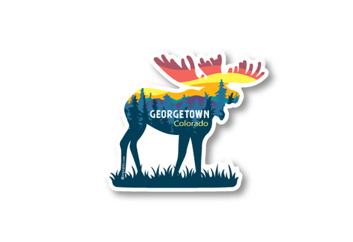 Wholesale Moose & Mountains Die Cut Sticker
