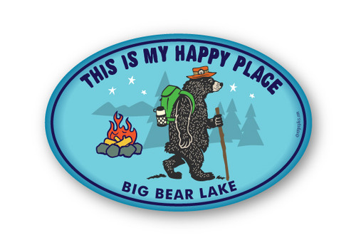 Wholesale Happy Place Bear Sticker