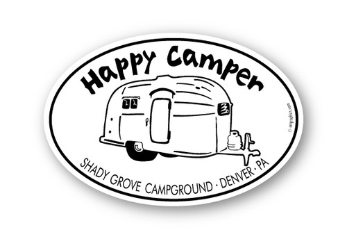 Wholesale Happy Camper Airstream Sticker