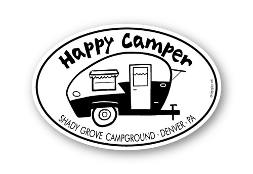 Wholesale Happy Camper Retro Sticker