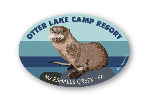 Wholesale River Otter Oval Sticker