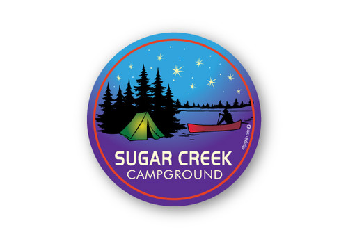 "Wholesale Canoe Tent 4"" Sticker"